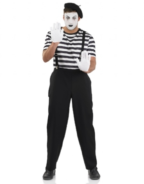 Adult Male Mime Artist Costume