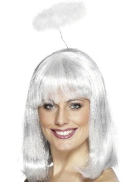 Marabou Angel Halo On Headband White
