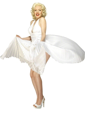 Adult Marilyn Monroe Costume - Back View