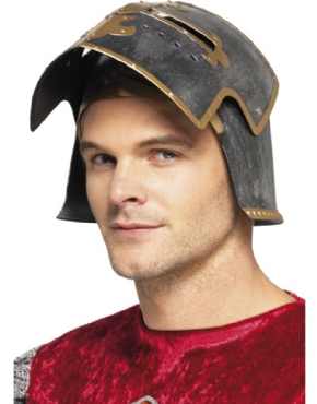 Medieval Crusader Helmet - Back View