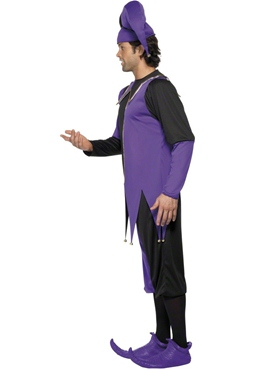 Adult Medieval Jester Costume - Side View