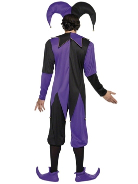 Adult Medieval Jester Costume - Back View