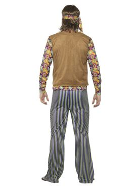 Mens 60's Hippie Singer Costume - Side View