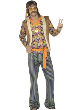 Mens 60's Hippie Singer Costume Couples Costume