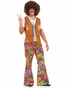Adult Mens 60's Psychedelic Trousers