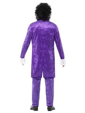 Mens 80's Purple Musician Costume - Side View