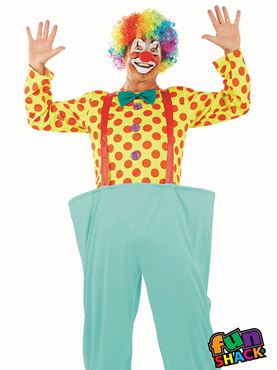 Mens Adult Clown Costume Couples Costume