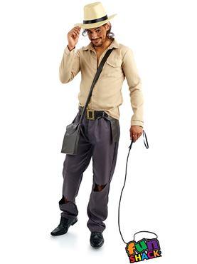 Mens Adventurer Costume - Back View