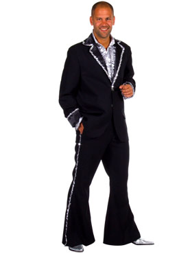 Adult Deluxe Mens Caberet Suit Costume Black