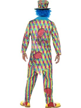 Mens Deluxe Patchwork Clown Costume - Side View