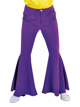 Adult Mens Deluxe Purple Hippie Trousers
