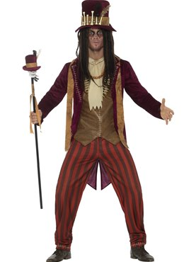 Mens Deluxe Voodoo Witch Doctor Costume Couples Costume