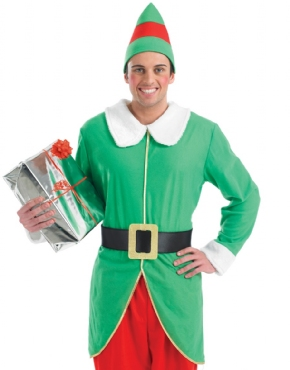 Adult Mens Elf Costume - Back View