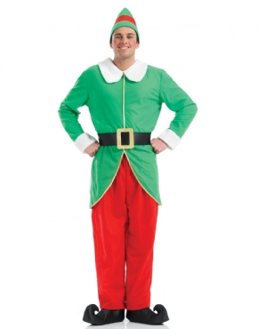 Adult Mens Elf Costume