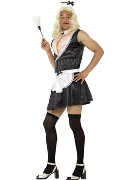 Mens French Maid Costume - Back View