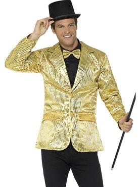 Mens Gold Sequin Jacket