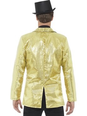 Mens Gold Sequin Jacket - Side View