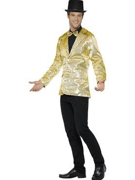 Mens Gold Sequin Jacket - Back View
