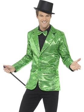 Mens Green Sequin Jacket
