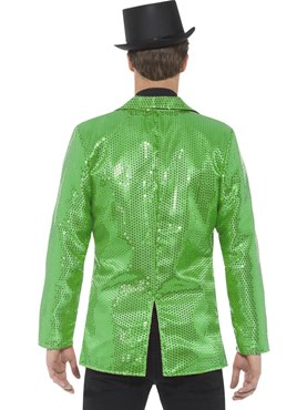 Mens Green Sequin Jacket - Side View