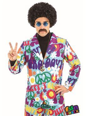 Mens Groovy Hippie Suit Costume