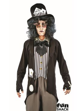 Mens Hallowed Hatter Costume - Back View