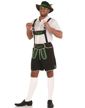 Adult Bavarian Man Lederhosen Costume