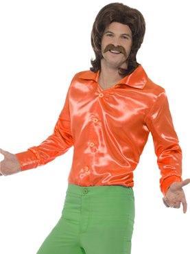 Mens Orange 60's Shirt