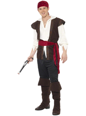 Adult Mens Pirate Costume Couples Costume