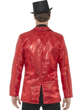 Mens Red Sequin Jacket - Side View