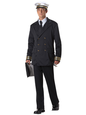 Adult Mens Retro Pilot Costume Couples Costume
