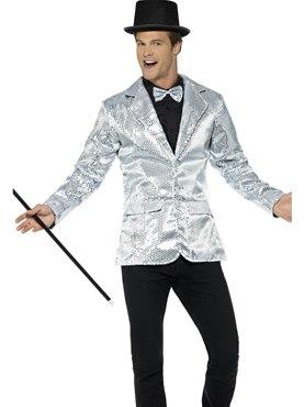 Mens Silver Sequin Jacket