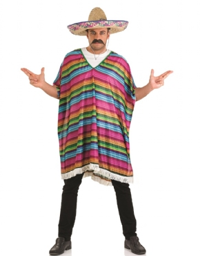 Adult Mexican Striped Poncho