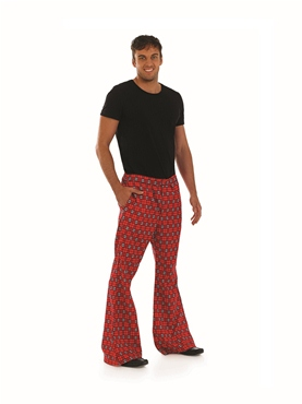 Adult Mens Tartan Trousers - Back View