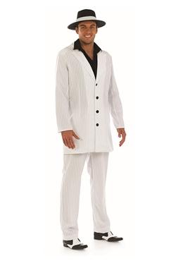 Adult Mens White Gangster Costume Thumbnail