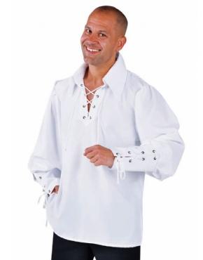 Adult Mens White Zorro Style Shirt