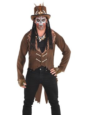 Mens Witch Doctor Jacket Couples Costume