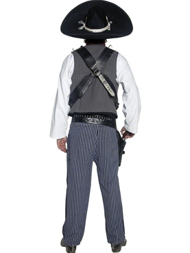 Adult Mexican Bandit Costume - Side View