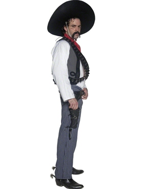Adult Mexican Bandit Costume - Back View