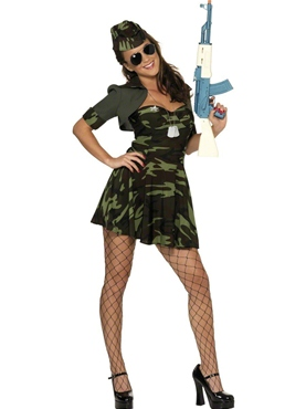 Adult Military Babe Costume