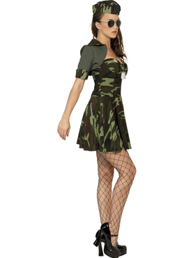 Adult Military Babe Costume - Back View