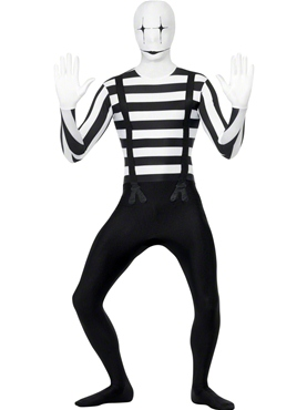Adult Mime Second Skin Costume Thumbnail