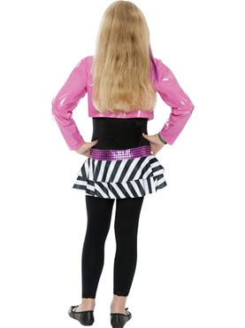 Child Mini Glam Rockstar Costume - Side View