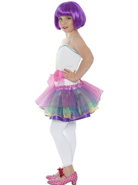 Child Mini Katy Perry Candy Girl Costume - Back View