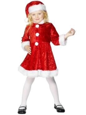 Child Mini Miss Santa Costume