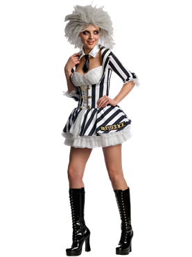 Adult Miss Beetlejuice Costume Couples Costume