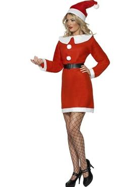 Adult Miss Santa Costume - Back View