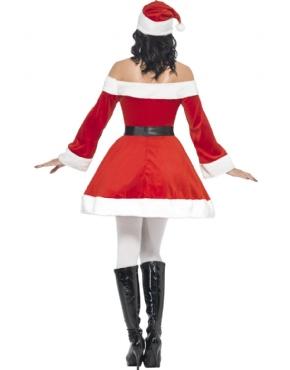 Ladies Miss Santa Costume - Side View