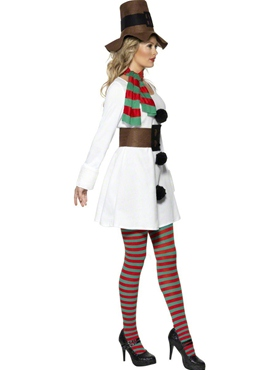Adult Miss Snowman Costume - Back View