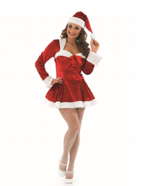 Adult Missy Clause Costume - Back View